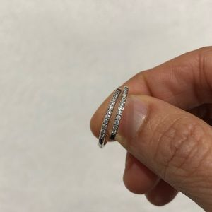 New Open Design Cubic Zirconia Silver Ring Band